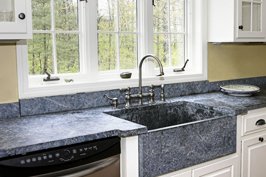 soapstone countertops in a country kitchen